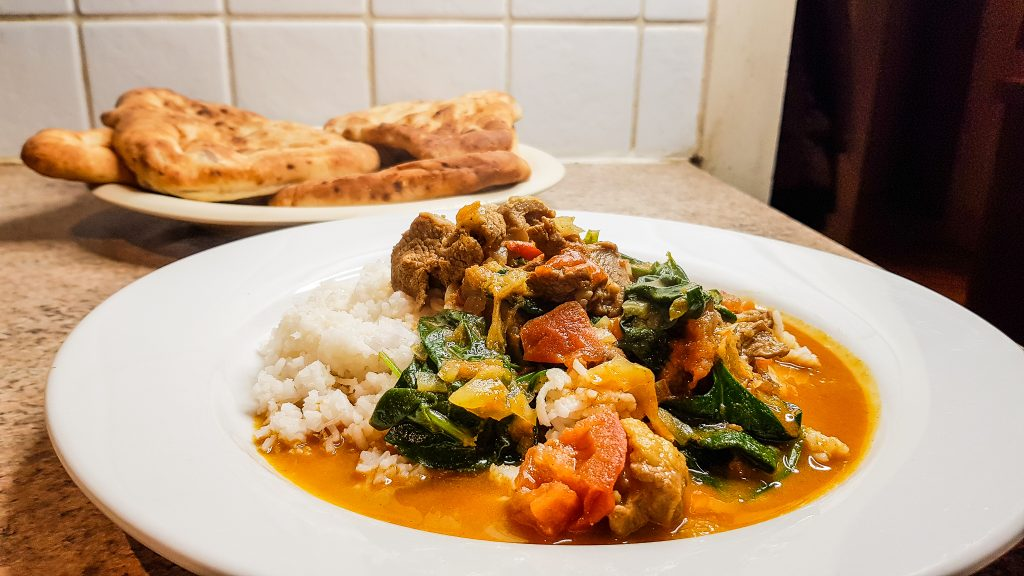 Alexa picked our meals for a week lamb curry