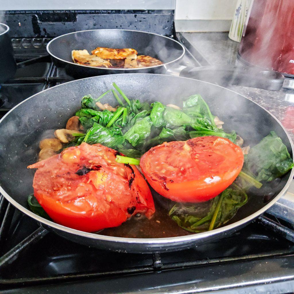 Vegetarian brunch