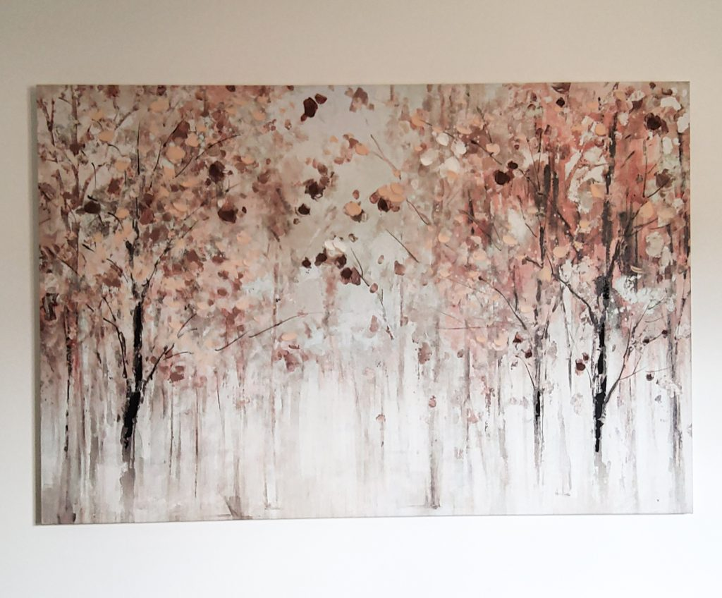Hand painted canvas of trees