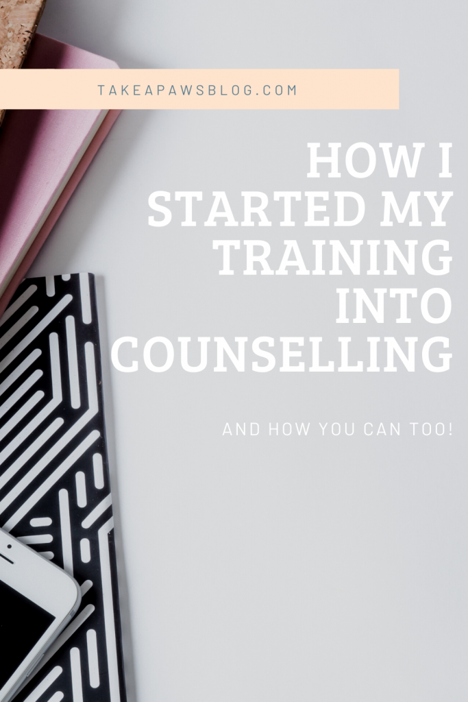 journey to becoming a counsellor